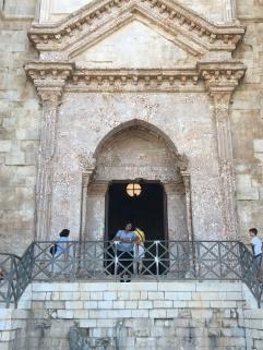 Outside Castel del Monte