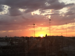 Sunset from the rooftop terrace of my palazzo