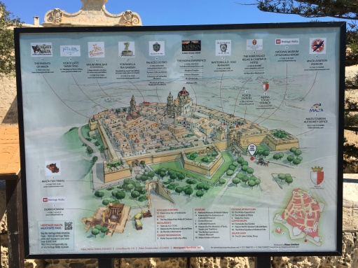 Map of Mdina