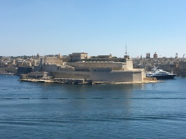 View of Vittoriosa from across the Grand Harbour