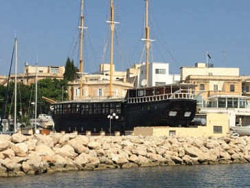 The Black Pearl, former passenger and cargo ship, movie shoot location (eg Popeye) and now restaurant